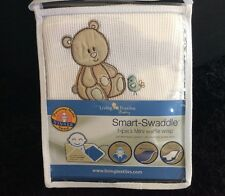 LIVING TEXTILES SMART SWADDLE WAFFLE WRAP. BRAND NEW.