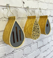 More details for hanging bird nest box, insect hotel & butterfly house set of 3 wildlife care