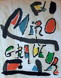 MIRO GRAVEUR (TOME II).1961-1973/+3 BOIS GRAVES/Tirage Limité 1500 ex/1989/ 237p