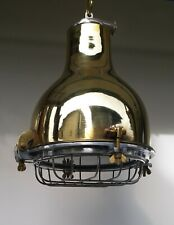 Industrial Hanging Brass Lamp