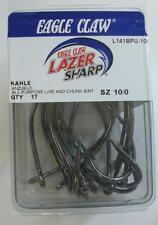 Eagle Claw L141BPUH 10/0 King Kahle Lazer Hooks 17CT 22190