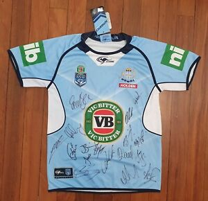 Signed 2016 NSW Blues Jersey - Medium - BNWT - 17 Signatures