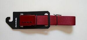 "Dakine Rail Belt Men's Deep Red Fits Up to 38"""