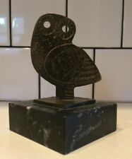 Mid Century Modern Owl Decor Bookend Decorative Item