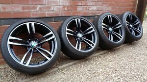 """Genuine BMW 437M 19"""" Alloy Wheels Michelin Competition M3 M4 4 Series"""