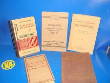 LOTTO DI 5 librosTECNICOS/APPARATI ELECTRICOSVINTAGE VECCHIE EDIZIONI