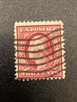 George Washington Red 2 Cent US Stamp 1908 - 1909 Vintage