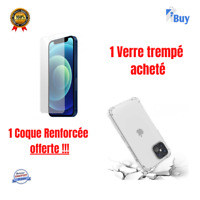 Verre trempé antichoc = Coque offerte iphone 7 8plus  X XS XR 11 12 Pro Max Mini