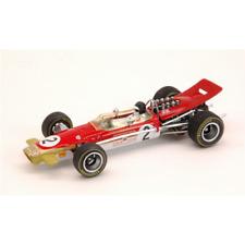 LOTUS 49B J.OLIVER 1968 N.2 5th BELGIUM GP 1:43 Quartzo Formula 1 Die Cast