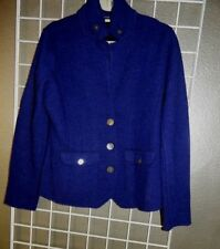 Eileen Fisher navy blue Merino Wool Blend Cardigan Jacket  M