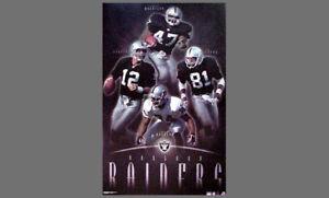 Oakland Raiders 2001 Vintage Original POSTER - Charles Woodson, Tim Brown, ++