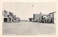 South Dakota SD Real Photo RPPC Postcard c1940s CANISTOTA Main Street Stores
