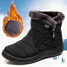 Waterproof Outdoor Ski Shoes Winter Fur Lined Shoes Women Snow Ankle Boots Warm