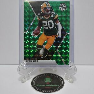 Kevin King Packers 2020 Panini Mosaic Green Prizm Parallel Football Card #84