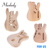 DIY Electric Guitar Bass Barrel Body Polished Unfinished Basswood/Mahogany B1M2
