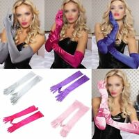 Opera Gloves Satin Wedding Bridal Long Gloves New Costume Evening Party Prom Y1