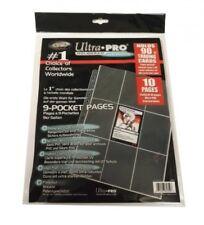 Ultra Pro pack 10 pages 9 pochettes Platinum Series pour 180 cartes JCC 813598