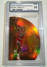 1998 Metal Universe Planet Metal Michael Jordan #1 PGA GEM 10 Die Cut