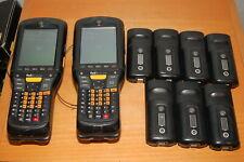 Lot of 2 Motorola Mc959B Computer Barcode Scanner w/ 9 Batteries Tested