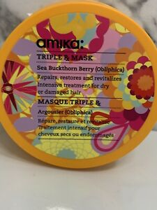 Amika Triple Rx Mask Sea Buckthorn Berry Obliphica  8.5 fl.oz NEW