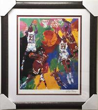 "LeRoy Neiman ""MICHAEL JORDAN"" lithograph NEWLY CUSTOM FRAMED - HAND SIGNED Art"