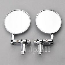 """Motorcycle 3/"""" Round Chrome 7//8/"""" Handle Bar End Mirrors Honda Kawasaki Yamaha #Y5"""