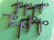 8 arrêts de volets à ressort fer rouille occasion hauteur 15 x 4 cm