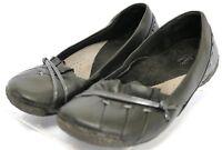 Clarks Artisan Flats $98 Women's Comfort Shoes Size 5.5 Black Leather