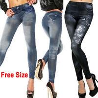 Women's Fashion New Sexy Skinny Leggings Jeans Jeggings Stretchy Pants Denim FE