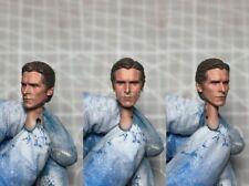 "Painted Service 1/12 Bale Batman The Dark Knight Head Sculpt fit 6"" Mafex ML Mez"