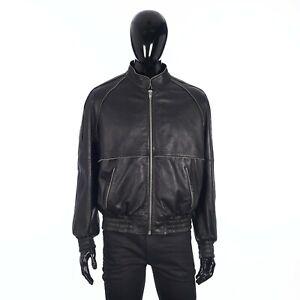 CELINE 4400$ Raglan Jacket With Zipper Details In Soft Black Lambskin