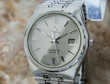Omega Seamaster Men's 1980s Quartz 37mm Vintage Stainless Steel Watch AL12