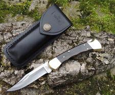 BUCK KNIVES FOLDING HUNTER FINGER GROOVED Messer Taschenmesser 420HC Stahl
