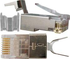 25pc RJ45 Cat6A Modular Plug Shielded 50micron,1.2mm
