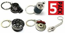 Turbo Keychain + Gearbox + Wheel Tire + Brake Rotor + Wrench Keychain Auto Gift