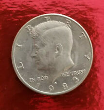 USA Liberty 1983-D Kennedy Half Dollar Coin,  Circulated Collectible Coin