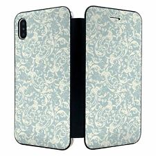 iPhone XS MAX Full Flip Wallet Case Cover Vintage Retro Pattern - S4229