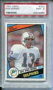 1984 Topps Football #123 Dan Marino Rookie Card RC PSA MINT 9 Dolphins