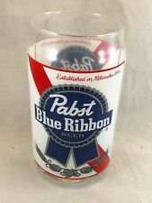 Vintage Pbr Pabst Blue Ribbon Beer Can Glass Milwaukee Usa Rockabilly