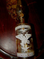 Vintage Glass American Eagle Kerosene Oil Lamp Lantern