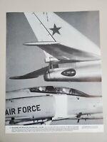 "VINTAGE 11X14 PHOTO THE COLD WAR US INTERCEPTOR & SOVIET TU-20 ""BEAR"" FLYING"