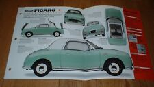 ★★1991 NISSAN FIGARO ORIGINAL IMP BROCHURE SPECS INFO PHOTO POSTER 91★★