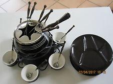 Fondue Set Topf mit Teller und Zubehör - Rechaud Karussell Schmiedeeisen