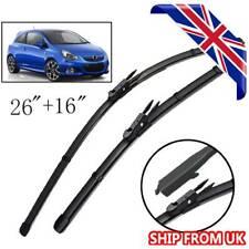 "Front Windscreen Flat Wiper Blades Kit For Vauxhall Corsa D E 2006-2019 26""16"""
