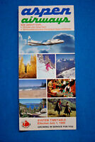 Aspen Airways System Timetable July 1, 1980
