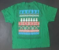Ugly Christmas T-Shirt 2X-Large Snowman Candy Canes Trees Graphic Tee Tacky