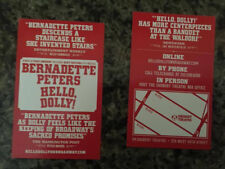 Hello Dolly  mini ad/flyer Broadway NYC Bernadette Peters