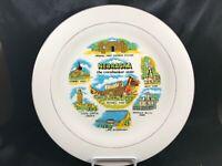 Vintage Nebraska Souvenir Collectors Plate Pony Express Mitchell Pass