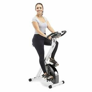 Marcy Foldable Exercise Bike with Adjustable Resistance for Cardio Workout an...