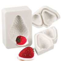 Fondant Sugar Craft Strawberry Silicone Mold Cake Decor Cake Mould Baking Tool